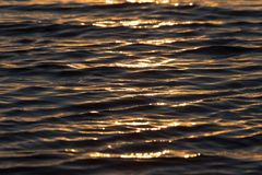 Seamless texture warm color shining sunset water surface.  stock image