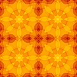 Seamless texture with warm orange red yellow kaleidoscope floral pattern. For print on textiles, sheets, tablecloths, wrapping paper, wall/floor tiles for Royalty Free Stock Photos