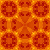Seamless texture with warm red orange yellow floral cut pattern. For print on textiles, sheets, tablecloths, wrapping paper, wall/floor tiles for kitchen/ Royalty Free Stock Photo