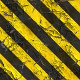 Seamless Texture of Warning Stripes Surface. Royalty Free Stock Image