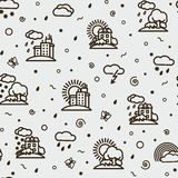Seamless texture - weather Stock Images