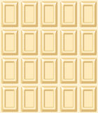 Vector seamless texture with white chocolate bar. Stock Images