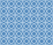 Seamless texture. White circles on a blue background Stock Images