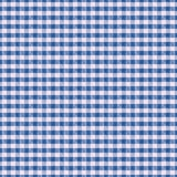 Seamless texture white fabric in blue cage, background for desig. Fabric  blue  pattern  texture background  white textile, tablecloth  retro  table  design Royalty Free Stock Image