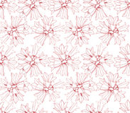Seamless texture with white flowers Stock Photos