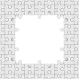 Seamless texture white puzzle Royalty Free Stock Image
