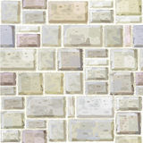 Seamless texture of white stonewall. Royalty Free Stock Photography
