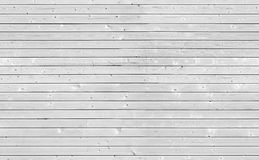 Seamless texture of white wooden wall Stock Photography