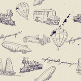 Seamless Texture With Set Of Vintage Transport. Royalty Free Stock Photos
