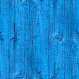 Seamless a texture wooden fence old blue wallpaper Stock Photos