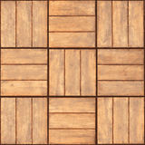 Seamless texture - wooden plaque wall Royalty Free Stock Photography