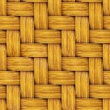 Seamless Texture of Wooden Rattan. Stock Image
