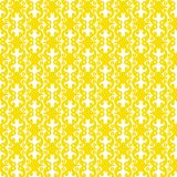 Moroccan geometric pattern seamless texture. Seamless texture with yellow circular shapes geometric pattern. Seamless tile wallpaper background Royalty Free Stock Photos