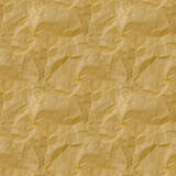 Seamless texture of yellow crumpled paper. seamless Stock Images