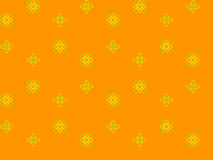 Seamless texture with yellow and green ornaments. Abstract flowers dandelions Royalty Free Stock Image