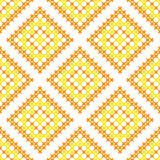 Seamless texture with yellow and orange abstract patterns Stock Photo