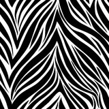 Seamless texture zebra skin� Royalty Free Stock Photo