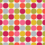 Seamless textured circle dots wallpaper pattern Royalty Free Stock Photo