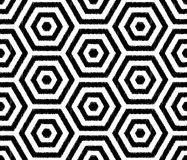 Seamless textured hexagon tiles wallpaper pattern Stock Photo