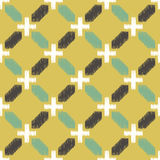 Seamless textured islamic tiles pattern Royalty Free Stock Image