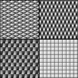 Seamless textured patterns Stock Photo