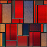 Seamless textured stained glass panel Royalty Free Stock Images