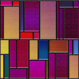 Seamless textured stained glass panel Royalty Free Stock Photo