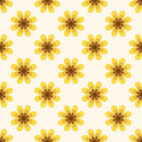 Seamless textured yellow flower wallpaper pattern Stock Photography