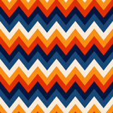 Seamless textured zigzag retro background Stock Image