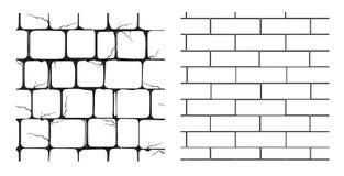 seamless texturer för masonry stock illustrationer