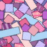 Seamless texturera gjort av snippets Royaltyfri Fotografi