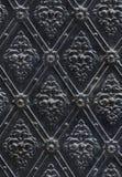 Seamless texturera spikat belägger med metall den blom- garneringen Royaltyfria Bilder