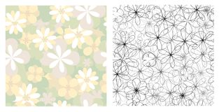 Seamless textures of flowers Royalty Free Stock Images