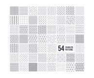 Seamless textures. Geometric, striped patterns. 54 repeatable simple textures. Vector. Seamless textures. Geometric, striped patterns. Abstract decoration stock illustration