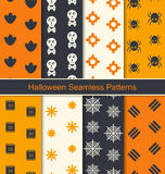 Seamless Textures for Happy Halloween Stock Photos