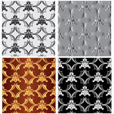 Seamless textures-patterned fabric 1-vector illustration Stock Photography