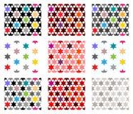 Seamless textures with stars stock illustration