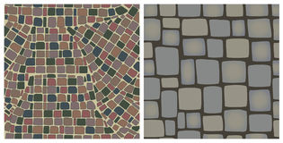 Seamless textures of stones Stock Photos