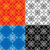 Seamless textures - vintage ornamental patterns Stock Image