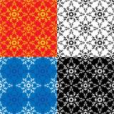 Seamless textures - vintage ornamental patterns Stock Image