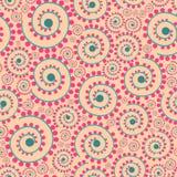 seamless texturvektor Blom- ändlös bakgrund med dekorativ beståndsdelar och krullning Vektorbakgrund för bruk i design Använd fo Royaltyfria Bilder