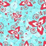 seamless texturvektor Blom- ändlös bakgrund med dekorativ beståndsdelar och krullning Vektorbakgrund för bruk i design Använd fo Fotografering för Bildbyråer