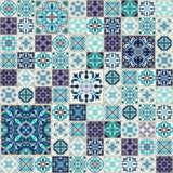 seamless texturvektor Härlig patchworkmodell för design och mode med dekorativa beståndsdelar Royaltyfria Bilder