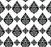 Seamless Thai pattern, repetitive background from Thailand - Lai Thai Stock Images