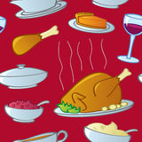Seamless Thanksgiving Food Royalty Free Stock Images