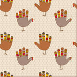Seamless thanksgiving turkey design Stock Photo