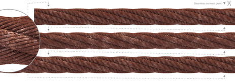 Seamless thick rust cable wire rope Stock Image