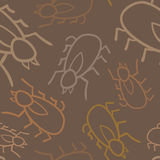 Seamless Tick Pattern. A seamless pattern of ticks, a disease carrying parasite Stock Illustration