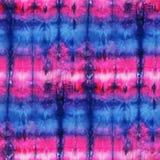 Tie Dye Background. Seamless tie-dye pattern of pink and blue color on white silk. Hand painting fabrics - nodular batik. Shibori dyeing royalty free illustration