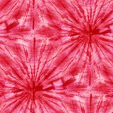 Tie Dye Background. Seamless tie-dye pattern of red color on white silk. Hand painting fabrics - nodular batik. Shibori dyeing vector illustration